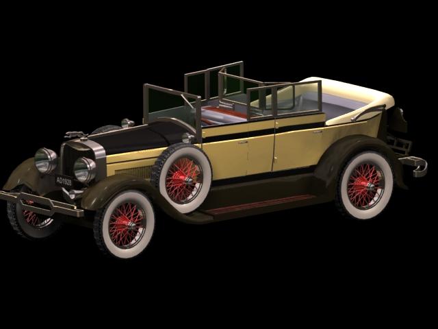 Lincoln Touring Sedan 3d rendering