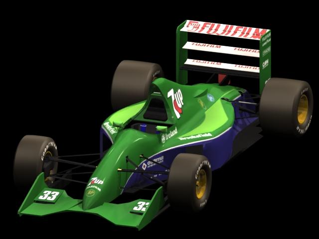 Jordan 191 Formula One car 3d rendering