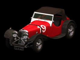 Jaguar SS100 Roadster 3d preview