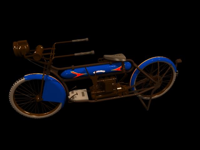 Henderson Motorcycle 3d rendering