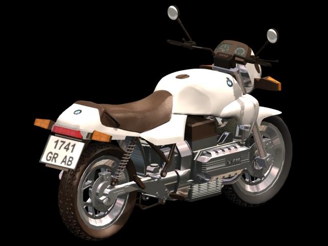 BMW K100 motorcycle 3d rendering