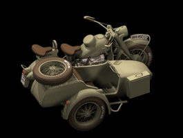 BMW R75 motorcycle 3d preview