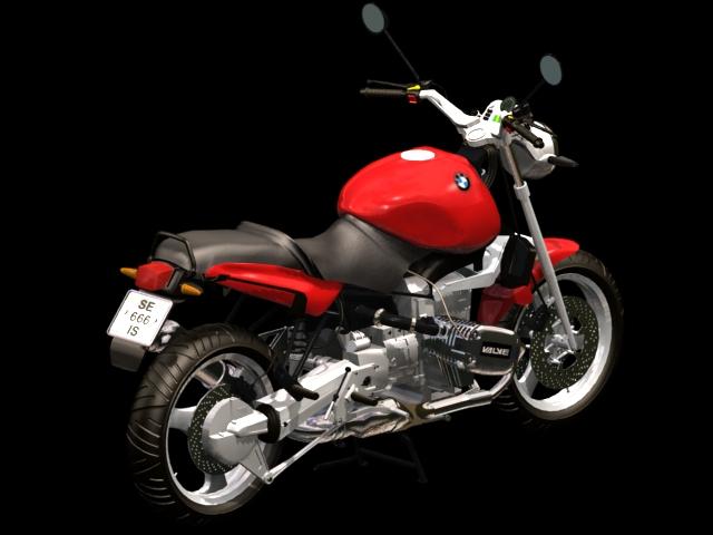 BMW R1100RS motorcycle 3d rendering