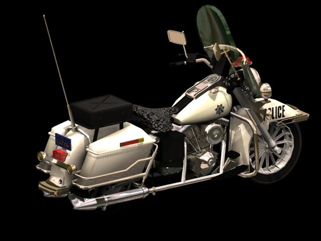 Harley-Davidson Police motorcycle 3d rendering