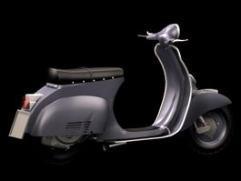 Vespa motor scooter 3d preview