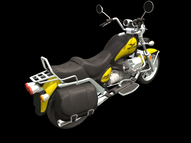 Moto Guzzi V1000 motorcycle 3d rendering