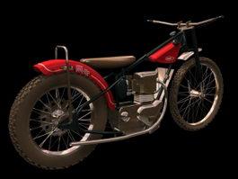 Jawa 500 historic motorcycle 3d preview
