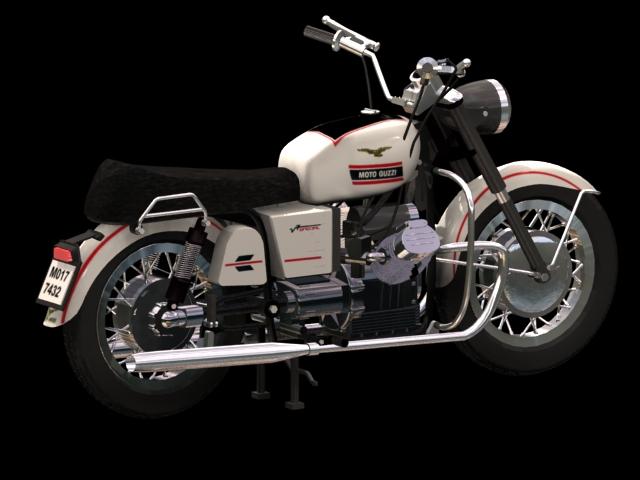 Moto Guzzi Stelvio dual-sport motorcycle 3d rendering