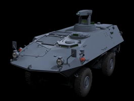 MOWAG Piranha armoured fighting vehicle 3d model preview