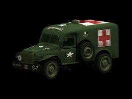Dodge WC54 ambulance 3d model preview