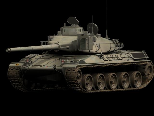 AMX-30 tank 3d rendering