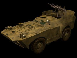 BRDM-1 with AT-1 Snapper 3d model preview
