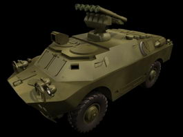BRDM-3 armoured fighting vehicle 3d model preview