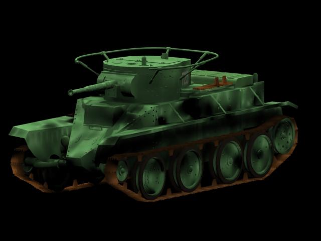 BT-5 tank 3d rendering