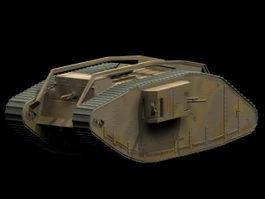 Female tank 3d model preview