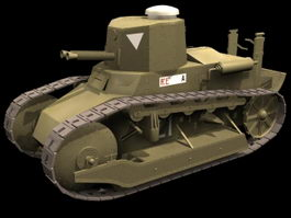 Fiat 3000 tank 3d model preview
