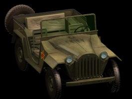 GAZ-67B military jeep 3d model preview