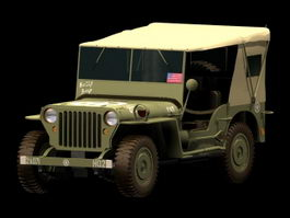 Jeep Willys 3d model preview