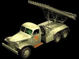 Katyusha rocket launcher 3d model preview