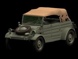 Volkswagen Kubelwagen military vehicle 3d model preview