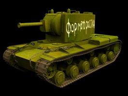KV-2 Heavy artillery tank 3d preview