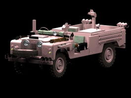 Land Rover pink panther 3d model preview