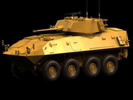 LAV-25 reconnaissance vehicle 3d model preview