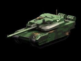 AMX-56 Leclerc tank 3d model preview