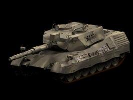 Leopard main battle tank 3d model preview