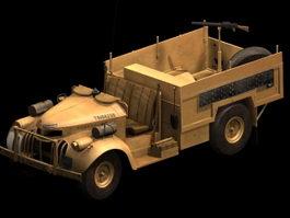LRDG armed patrol truck 3d model preview