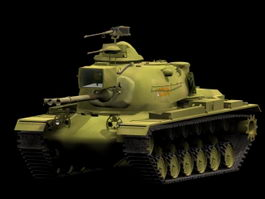 M48 Patton medium tank 3d model preview