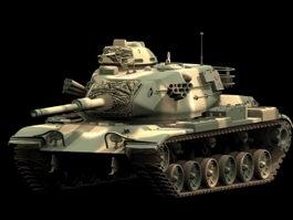 M60A3 main battle tank 3d model preview
