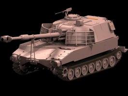 M109 howitzer 3d model preview