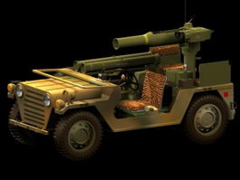 M151A2 TOW missile launcher 3d model preview
