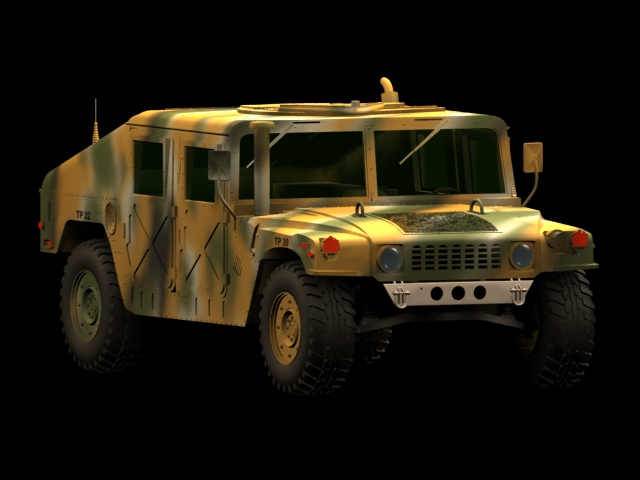 Hummer M1025 Armored Carrier vehicle 3d rendering