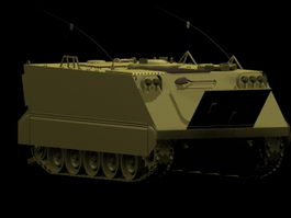 M113 armored personnel carrier 3d model preview