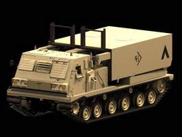 MLRS M270 Multiple rocket launcher 3d preview