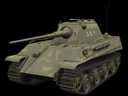 Panther Ausf. D tank 3d model preview