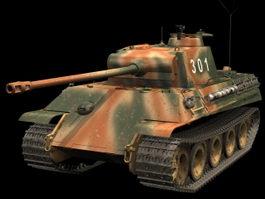 Panzer V Ausf G Heavy tank 3d model preview