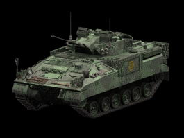 Warrior tracked armoured vehicle 3d model preview