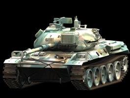 Type 74 Nana-yon tank 3d model preview