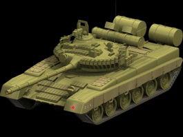 T-80 main battle tank 3d model preview