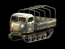 Steyr fully tracked vehicle 3d model preview