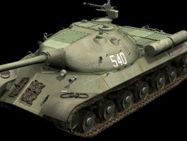 Iosif Stalin tank 3d preview