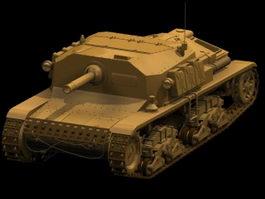Semovente self-propelled gun 3d model preview
