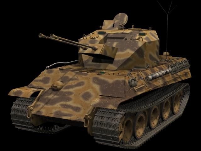 Panzerkampfwagen V Panther tank 3d rendering