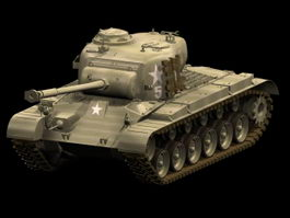 M26 Pershing tank 3d preview