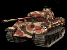 Panther Ausf. A tank 3d model preview