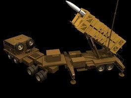Patriot missile 3d model preview