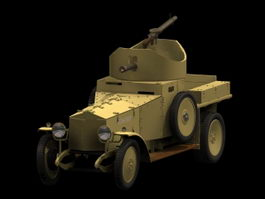 Rolls-Royce armoured car 3d model preview